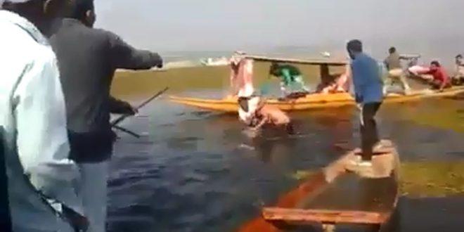 WATCH: Shopian youth mistaken as braid-chopper, mob tries to drown him in Dal Lake
