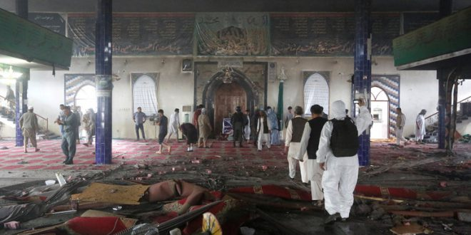 Suicide attacks on Afghan mosques leave 72 dead